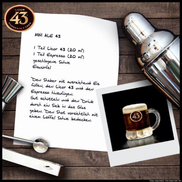 Mini Ale mit Likör 43