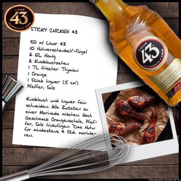Sticky Chicken mit Likör 43